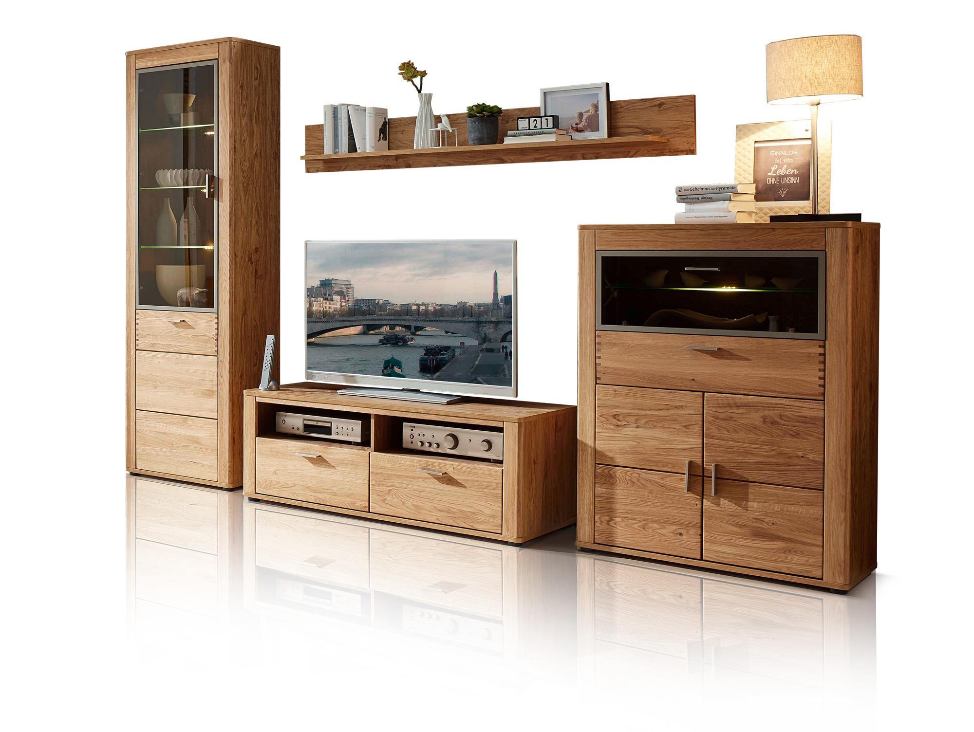 orion i wohnwand wildeiche teilmassiv. Black Bedroom Furniture Sets. Home Design Ideas