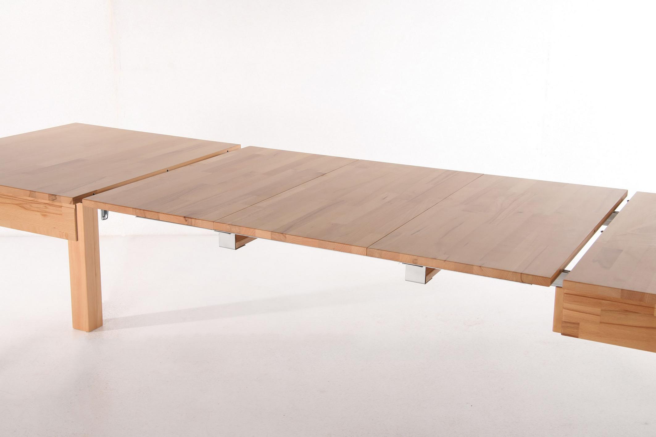 Rafet 3xl esstisch 140 260x80 cm kernbuche oder eiche for Esstisch 80 x 80 cm