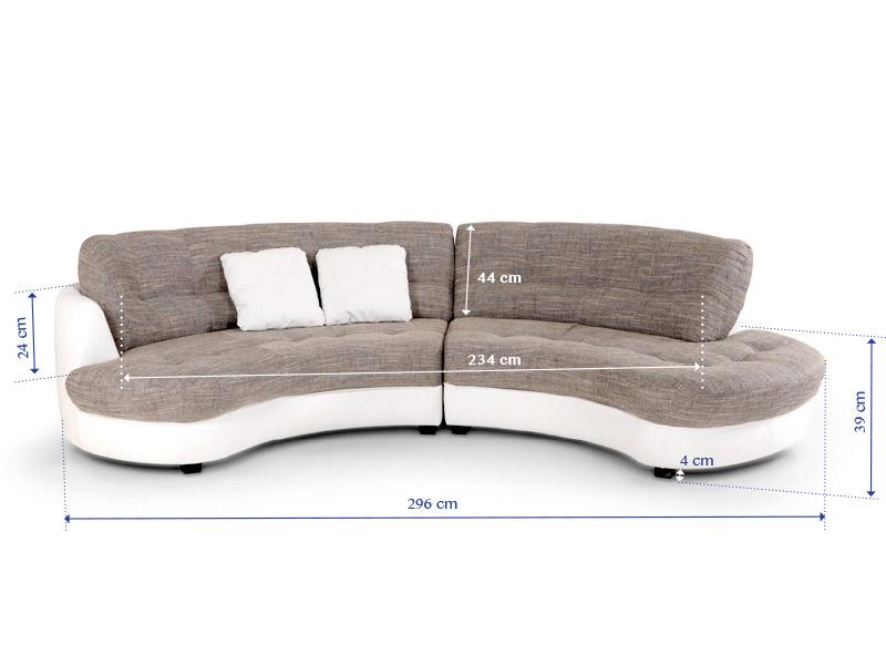 Sofa runde form  ROMA Ecksofa / Wohnlandschaft rechts