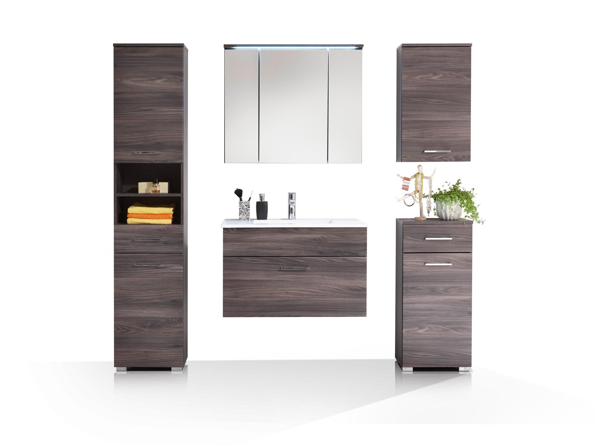 SALOME Badezimmer-Set 5tlg Sangallo Eiche Nachbildung MDF