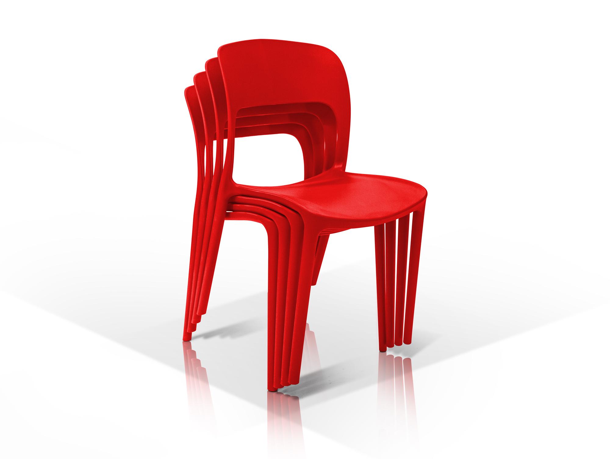 florian kunststoff stuhl rot. Black Bedroom Furniture Sets. Home Design Ideas