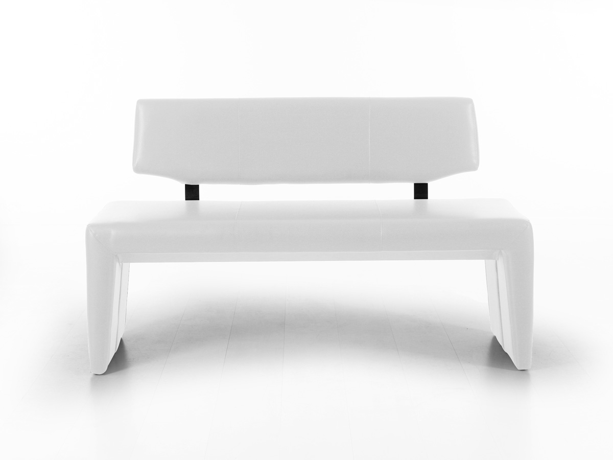 ira sitzbank kunstleder mit r cken 140 cm weiss. Black Bedroom Furniture Sets. Home Design Ideas