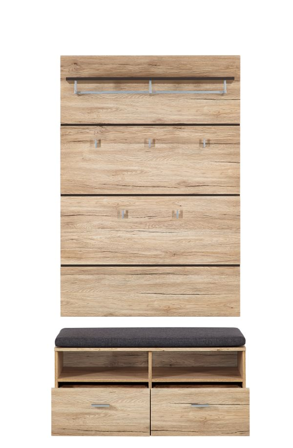 feodora garderobe san remo eiche. Black Bedroom Furniture Sets. Home Design Ideas
