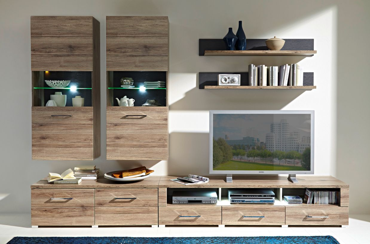 diego tv unterteil san remo eiche schiefer. Black Bedroom Furniture Sets. Home Design Ideas