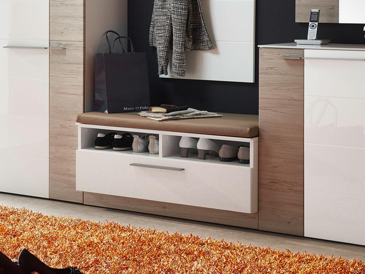 garderoben set sitzbank haloring. Black Bedroom Furniture Sets. Home Design Ideas