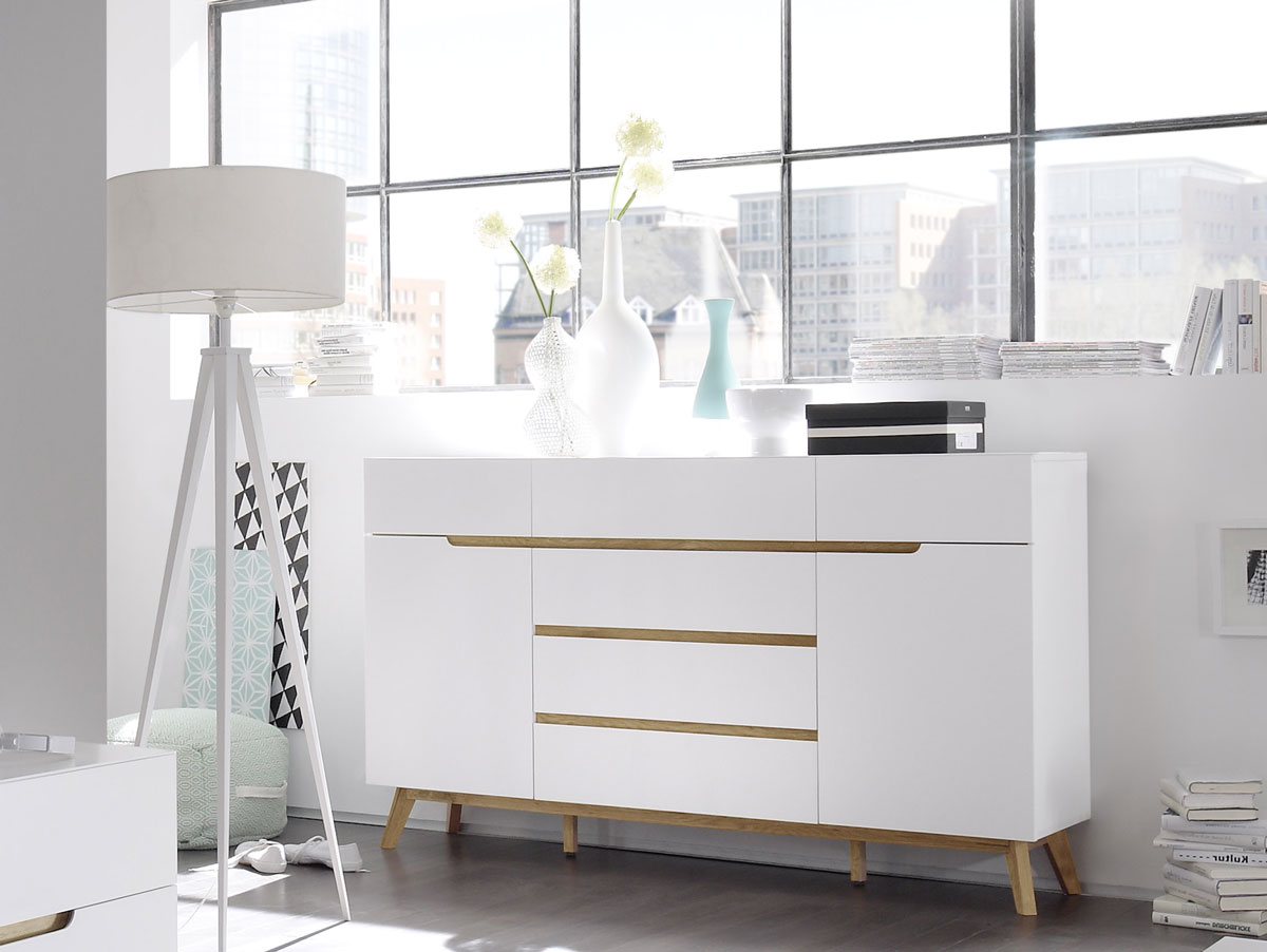 cava sideboard matt wei eichefarbig. Black Bedroom Furniture Sets. Home Design Ideas