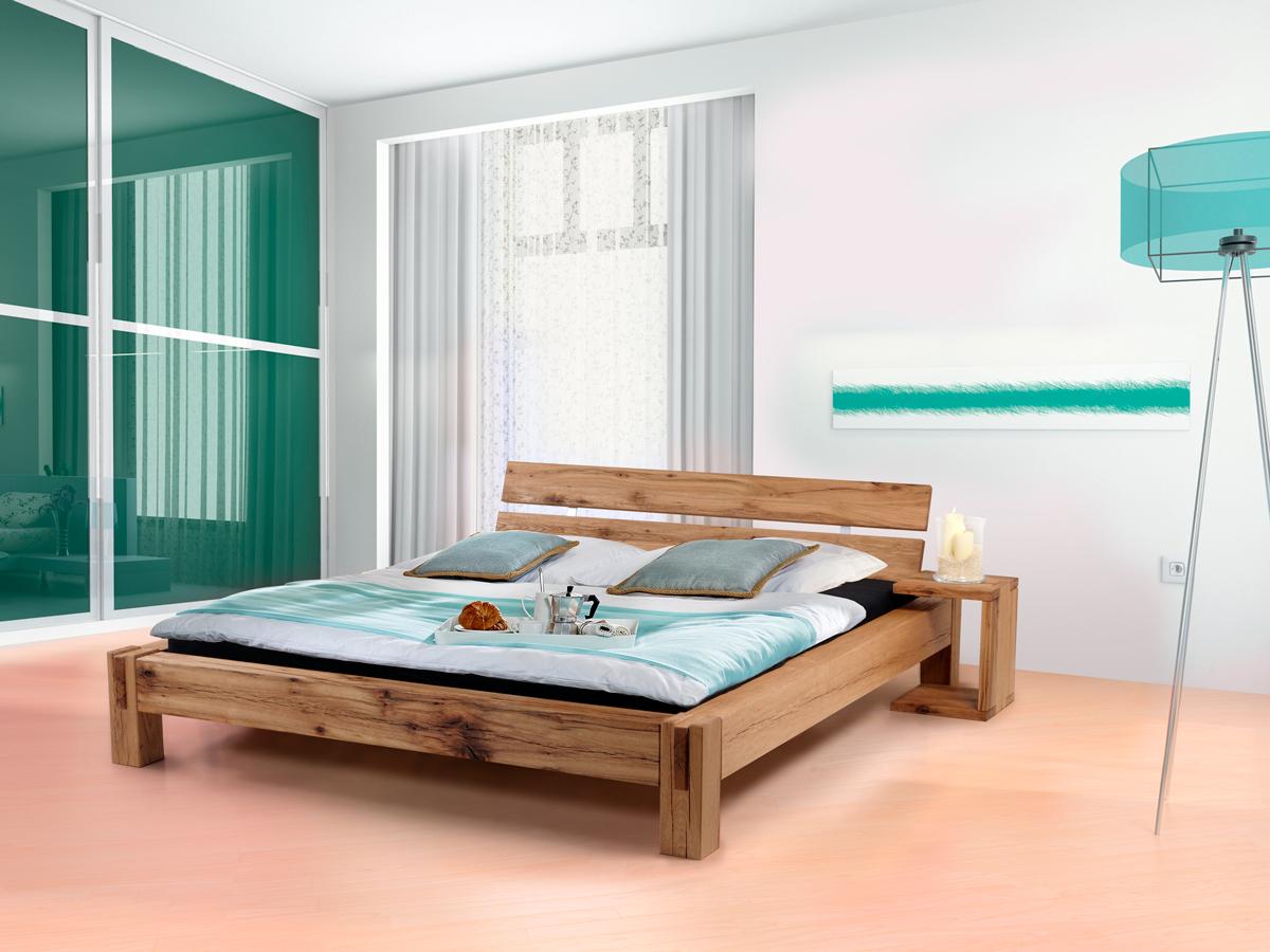 bermuda doppelbett massivholzbett sumpfeiche 140 x 200 cm ge lt ohne kopfteil. Black Bedroom Furniture Sets. Home Design Ideas
