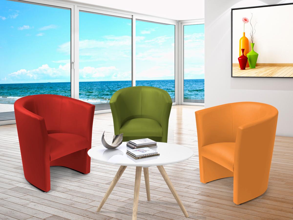 charly sessel cocktailsessel im lederlook blau. Black Bedroom Furniture Sets. Home Design Ideas