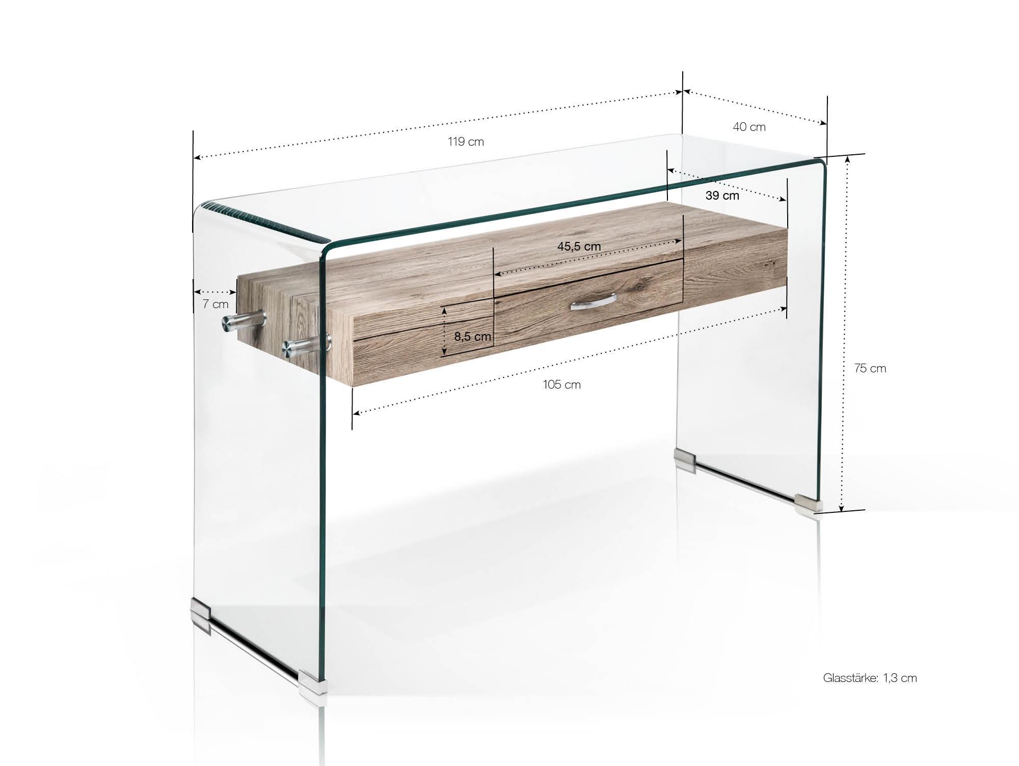 lisa i beistelltisch konsole glas. Black Bedroom Furniture Sets. Home Design Ideas