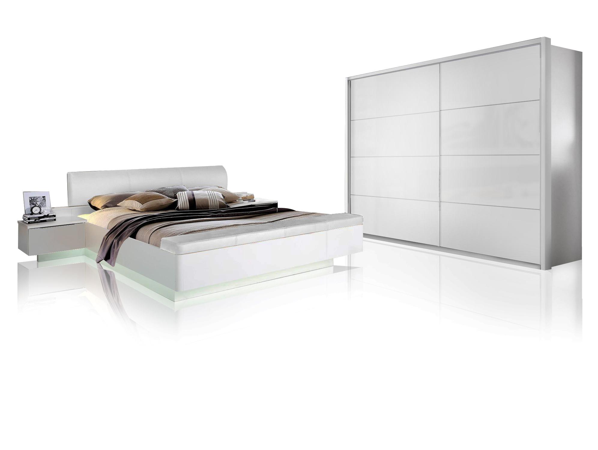 silent komplett schlafzimmer weiss hochglanz 4 teilig 270 cm. Black Bedroom Furniture Sets. Home Design Ideas