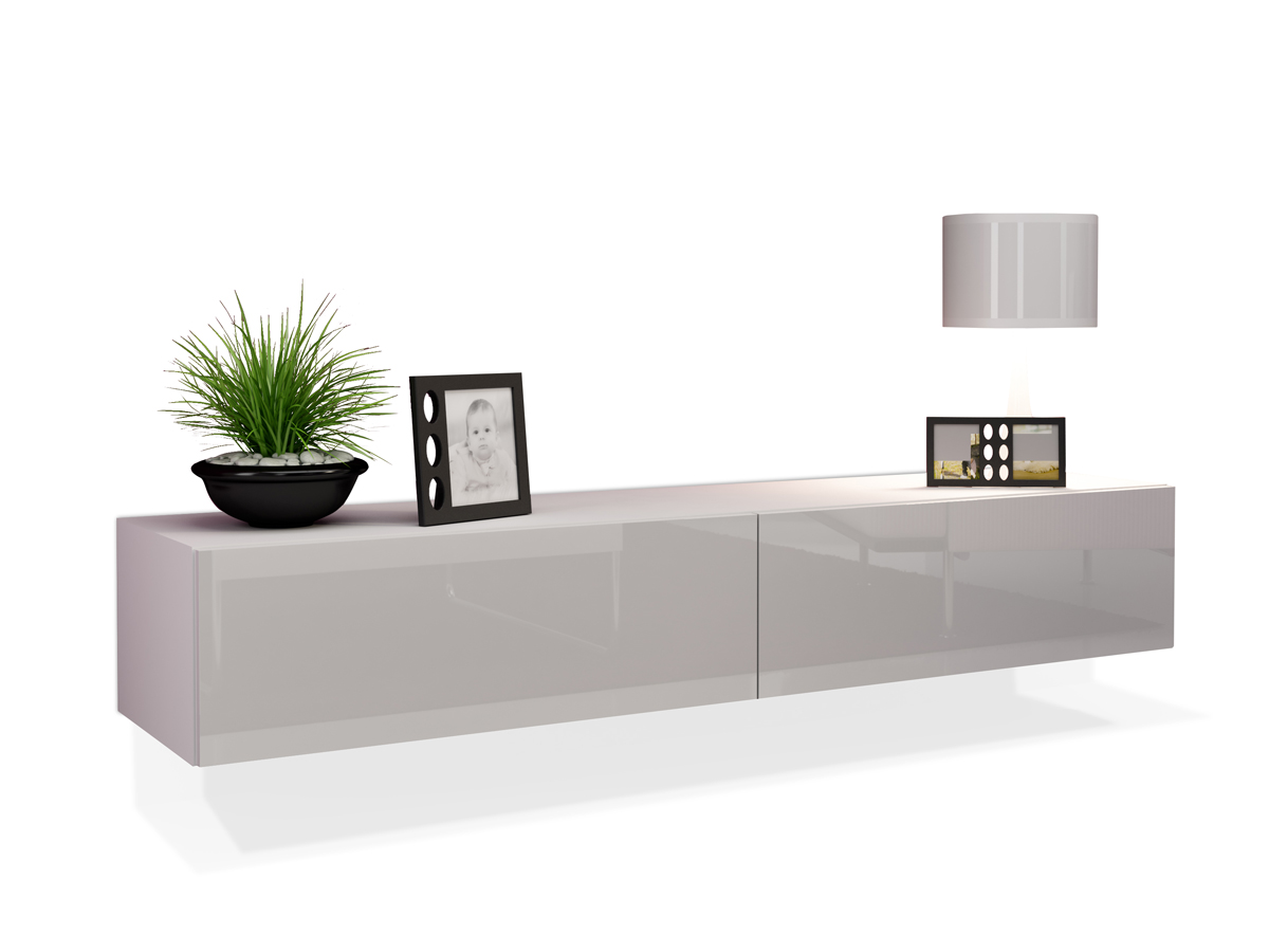 vanity tv unterteil mini 140 cm weiss. Black Bedroom Furniture Sets. Home Design Ideas