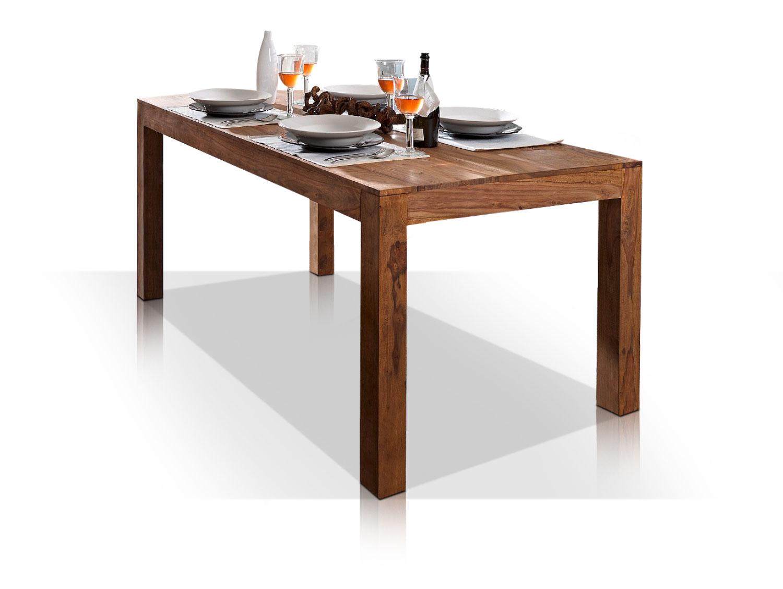 whitney massivholz esstisch sheesham gebeizt 160x90 cm. Black Bedroom Furniture Sets. Home Design Ideas