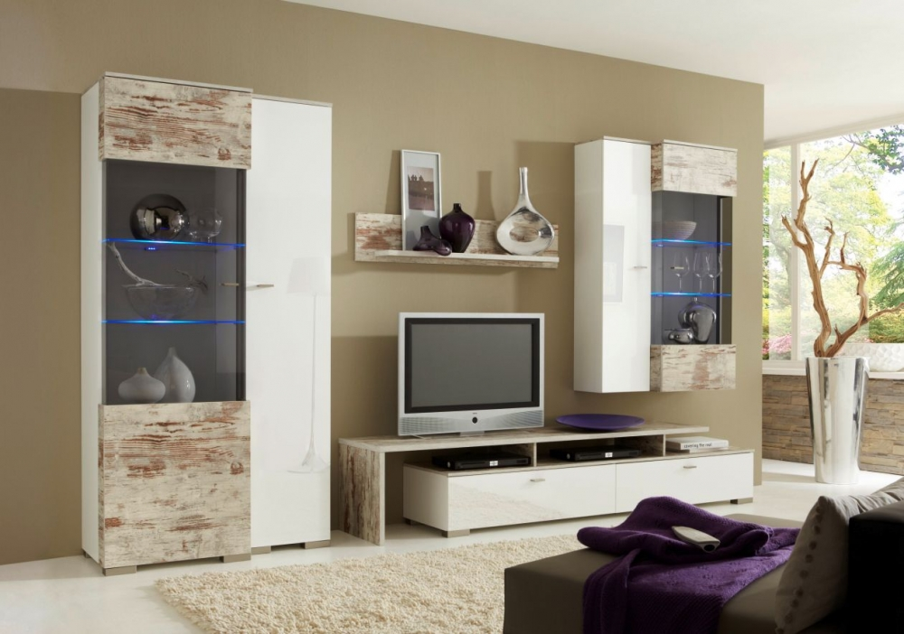 sultan wohnwand schrankwand anbauwand tv wand fernsehschrank wei eiche antik ebay. Black Bedroom Furniture Sets. Home Design Ideas